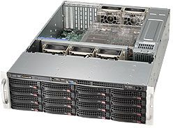 Supermicro 836A-R1200B black, 3U, 1200W redundant