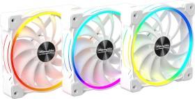 Alpenföhn Wing Boost 3 ARGB White Edition Triple, weiß, 120mm, 3er-Pack (84000000161)