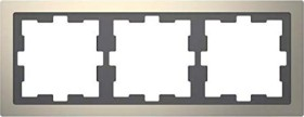 Merten System Design D-Life Rahmen, 3fach, nickelmetallic (MEG4030-6550)