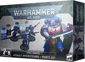 Games Workshop Warhammer 40.000 - Space Marines - Assault Intercessors & Paint Set