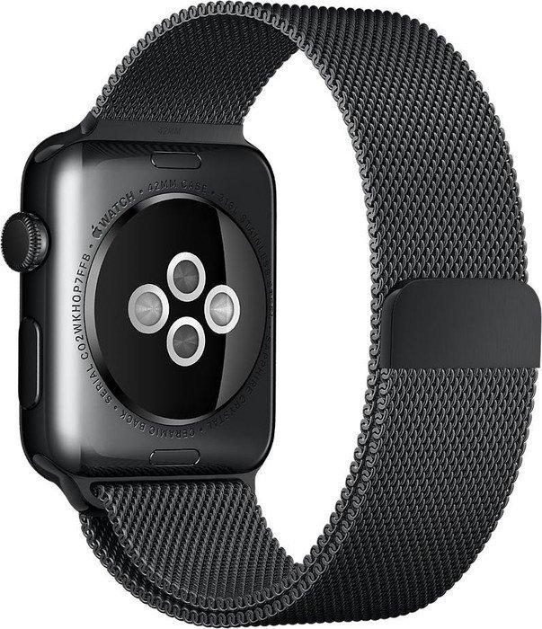 Apple Milanaise-Armband für Apple Watch 42mm schwarz (MLJH2ZM/A)