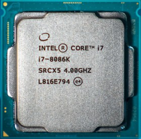 Intel Core i7-8086K Limited Edition, 6C/12T, 4.00-5.00GHz, tray