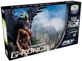 PNY Verto GeForce 6200, 128MB DDR, VGA, DVI, TV-out (G606200A8D11LPB)