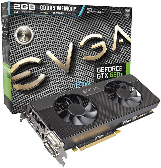 EVGA GeForce GTX 660 Ti FTW signature 2, 2GB GDDR5, 2x DVI, HDMI, DisplayPort (02G-P4-3664)