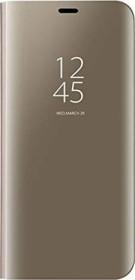 Vgana Clear View Stand Mirror Hülle für OnePlus Nord gold