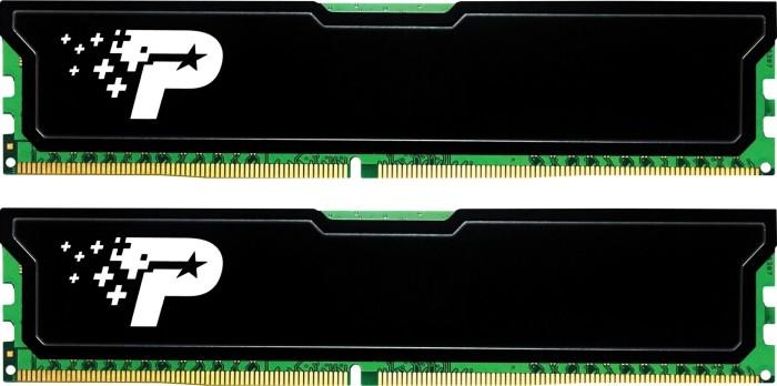 Patriot signature Line [black cooler] DIMM kit 16GB, DDR4-2666, CL19-19-19-43 (PSD416G2666KH)