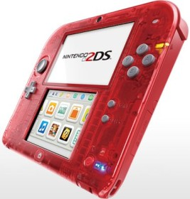 Nintendo 2DS transparent/rot