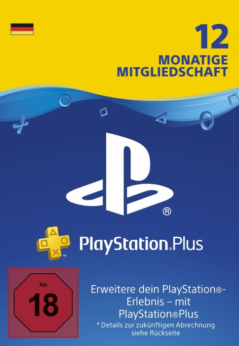 Sony PlayStation Plus Subscription Card - 365 Tage Abo für deutsche Accounts (Download) (PS5/PS4/PS3/PSVita)