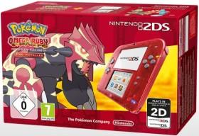 Nintendo 2DS Pokémon Omega Rubin Bundle transparent/rot