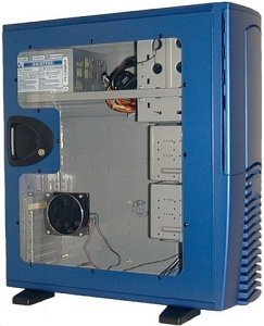 Chieftec SPX-02BL-F side panel with large side panel window blue for all models of the X series
