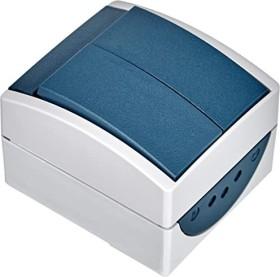 Busch-Jaeger Ocean Wippschalter, grau/blaugrün (2601/5 W-53)