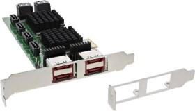 InLine 76617F, 8x SATA, 4x eSATA, PCIe 2.0 x1