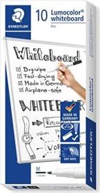 Staedtler Lumocolor Whiteboardmarker 301 schwarz, 10er-Pack (301-9#10)