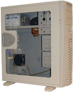 """Chieftec SPX-02W-F Seitenteil mit großem Sichtfenster weiß für alle Modelle der """"X"""" Serie"""