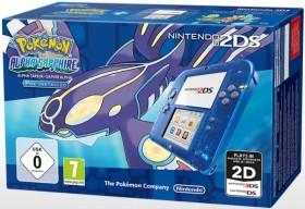 Nintendo 2DS Pokémon Alpha Saphir Bundle transparent/blau