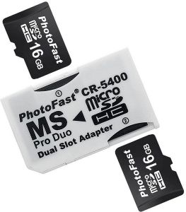PhotoFast microSDHC Adapter, MS PRO Duo (CR-5400)