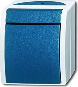 Busch-Jaeger Ocean Wippschalter, grau/blaugrün (2601/7 W-53)