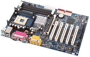 Albatron PX845GEV Pro, i845GE, VGA, LAN (PC-2700 DDR)