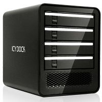 "Cremax Icy Dock MB561US-4SB-1 black, 3.5"", USB 2.0/eSATA"