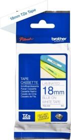 Brother TZe-243 label-making tape 18mm, white/blue (TZE243)