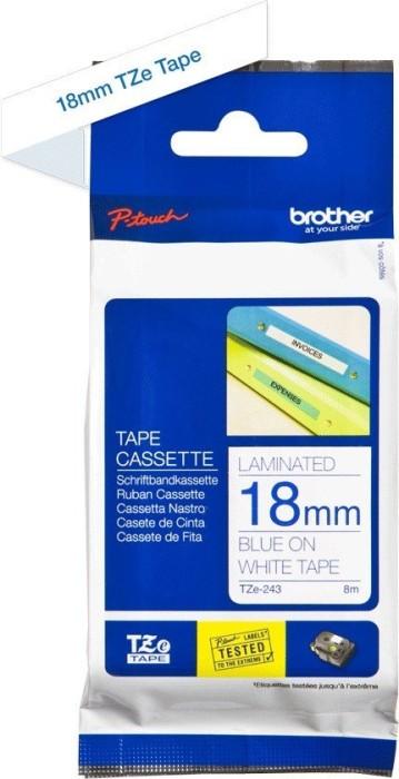 Brother TZ-243/TZe-243 18mm weiß/blau -- via Amazon Partnerprogramm