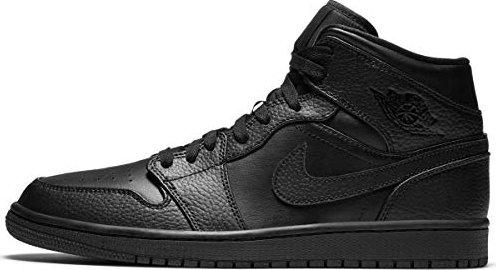 Nike Air Jordan 1 Mid schwarz (Herren) (554724-091)