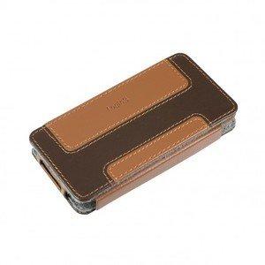 Logic3 Leather Case für iPhone 4/4S braun (IPP223)