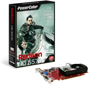 PowerColor Radeon HD 5570, 2GB DDR3, VGA, DVI, HDMI (AX5570 2GBK3-H)