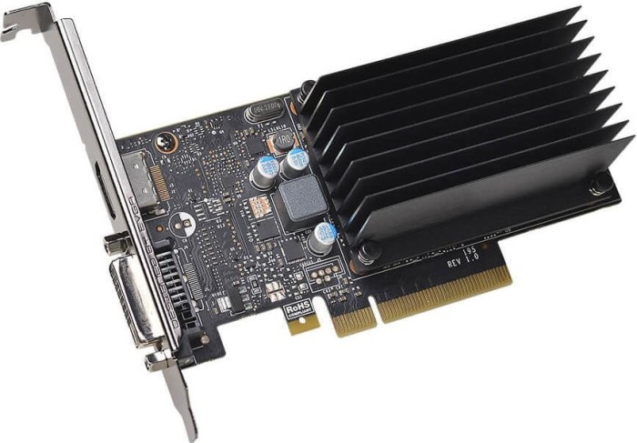 EVGA GeForce GT 1030 Passive Low Profile, 2GB DDR4, DVI, HDMI (02G-P4-6232-KR)