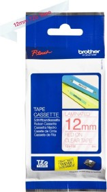 Brother TZe-132 label-making tape 12mm, red/transparent (TZE132)
