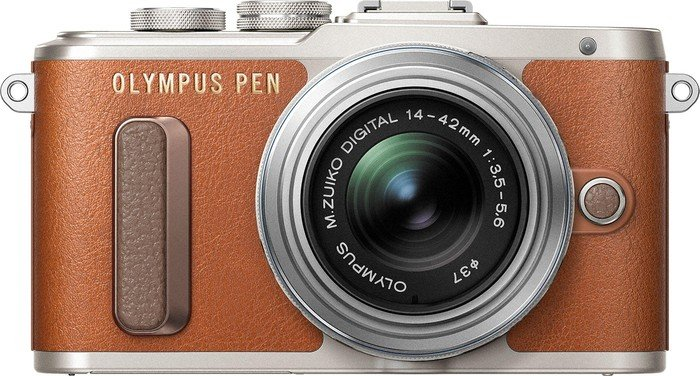 Olympus PEN E-PL8 braun mit Objektiv M.Zuiko digital 14-42mm EZ (V205082NE000)
