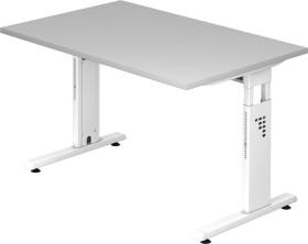 Hammerbacher Ergonomic O-Serie OS12/5/W, grau, Schreibtisch