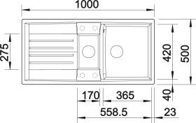 Blanco Lexa 6 S alumetallic (514677)