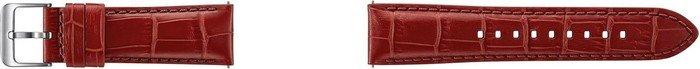 Samsung pasek ze skóry Alligator Grain do Gear S3 czerwony (ET-YSA76MR)
