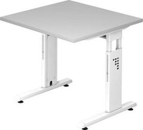 Hammerbacher Ergonomic O-Serie OS08/5/W, grau, Schreibtisch