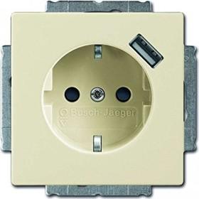 Busch-Jaeger Future Linear USB-Steckdose mit erhöhtem Berührungsschutz, elfenbeinweiß (20 EUCBUSB-82)
