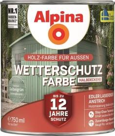 Alpina Farben Wetterschutz-Farbe halbdeckend außen Holzschutzmittel salbeigrün, 750ml
