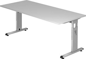 Hammerbacher Ergonomic O-Serie OS19/5, grau, Schreibtisch