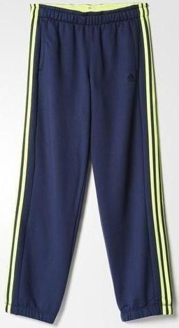 4713021ea7cc34 adidas Sport Essentials 3-Streifen Hose lang grey solar yellow (Herren) (