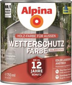 Alpina Farben Wetterschutz-Farbe halbdeckend außen Holzschutzmittel vintagegrau, 750ml