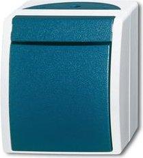 Busch-Jaeger Ocean Wippschalter, grau/blaugrün (2601/2 W-53)