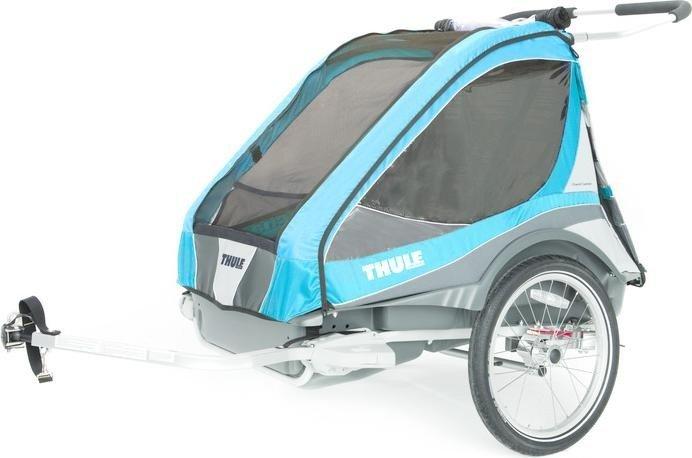thule chariot captain 2 fahrradanh nger blau ab 969. Black Bedroom Furniture Sets. Home Design Ideas