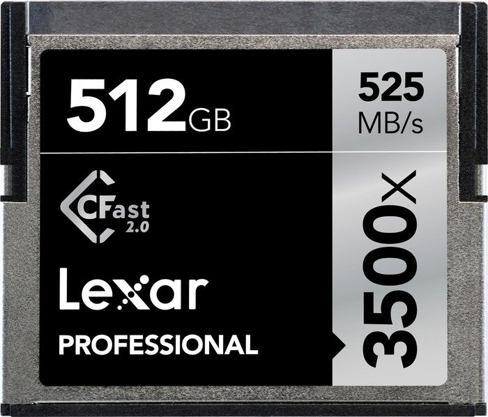 Lexar Professional 3500x R525/W445 CFast 2.0 CompactFlash Card 512GB (LC512CRBEU3500)