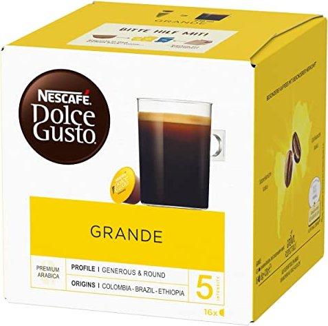 Nestlé Nescafe Dolce Gusto Caffe Crema Grande coffee capsules, 16-pack -- via Amazon Partnerprogramm