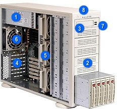 Supermicro 942i-R760B black, 4U, 760W redundant