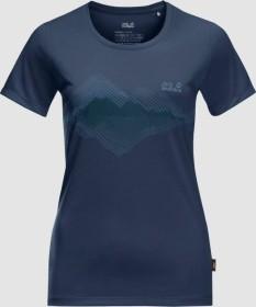 Jack Wolfskin Crosstrail Graphic Shirt kurzarm dark indigo (Damen) (1807211-1024)
