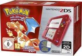 Nintendo 2DS Pokémon Rote Edition Bundle transparent/rot