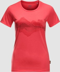 Jack Wolfskin Crosstrail Graphic Shirt kurzarm tulip red (Damen) (1807211-2058)