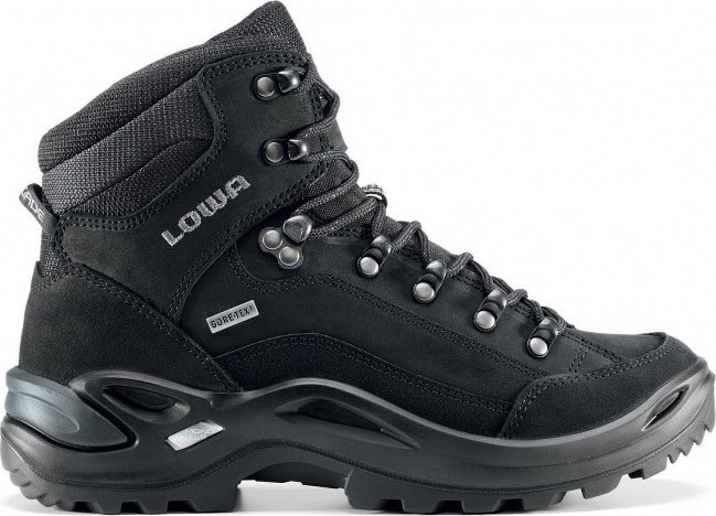 Lowa Damen Renegade GTX Mid WS Trekking-& Wanderstiefel, Mehrfarbig (Nero/Nero 9999), 36.5 EU