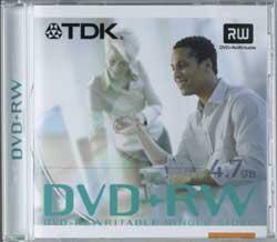 TDK DVD+RW 4.7GB 4x, 5-pack Videobox
